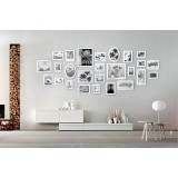 26 pcs Picture Photo Frame Set Wall white Decor Art Collection Gift Present
