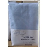 Heavenly Dreams 3 pcs SHEET SETS. Fabric: Cotton COLOR:Blue