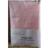 Heavenly Dreams 3 pcs SHEET SETS. Fabric: Cotton COLOR:Pink