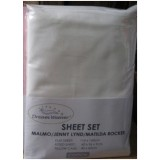 Heavenly Dreams 3 pcs SHEET SETS. Fabric: Cotton COLOR:White