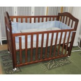 BABYWORTH  BW02 COT & MATTRESS CRIB BABY TODDLE BED DARK BROWN walnut Color