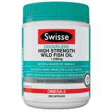 Swisse Ultiboost Odourless High Strength Wild Fish Oil 1500mg 200 Capsules