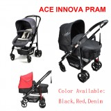 Baby Ace Innova 2 in 1 Reverse Seat Convertible Stroller Pram