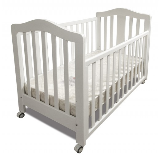 BABYWORTH BW02 COT  CRIB BABY TODDLE BED WHITE