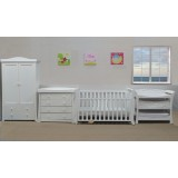 BABYWORTH BW03 Sleigh Cot Change Table Chest Robe White Mattress Pad PACKAGE