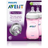 Avent Natural Feeding Bottle (Pink) 260ml X 2