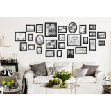 HOMEWORTH 26 pcs Picture Photo Frame Set Wall Black Decor Art Collection Gift Present