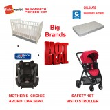 MOTHER'S CHOICE AVORO CONVERTIBLE CAR SEAT BABYWORTH BW01 COT visto Red PRAM NEWBORN BABY PACKAGE