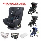 Mother's Choice Nest II Car Seat Plus Cot and Safety 1st Nook Pram Package