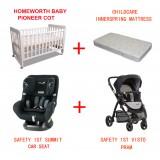 SUMMIT  ISO 30 CONVERTIBLE CAR SEATS VISTO PRAM BABYWORTH BW01 COT PACKAGE
