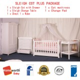 BABYWORTH BW03 Cot Change Table Chest Robe Mattress Pad PACKAGE