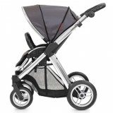 Oyster Max Pram Stroller for  Newborn Baby infant   as a single seat vogue grey