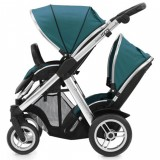 Oyster Max Pram Stroller for  2 Newborn Baby infant   with tandem seat vogue teal