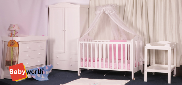 BABYWORTH COT WHITE