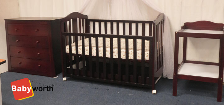 BABYWORTH COT WANLNUT