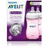 Avent Natural Feeding Bottle (Pink) 260ml X 2
