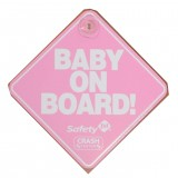 SAFETY 1ST Baby On Board Sign - The Original Pink