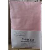 Heavenly Dreams 3 pcs SHEET SETS. Fabric: Cotton COLOR:Pink